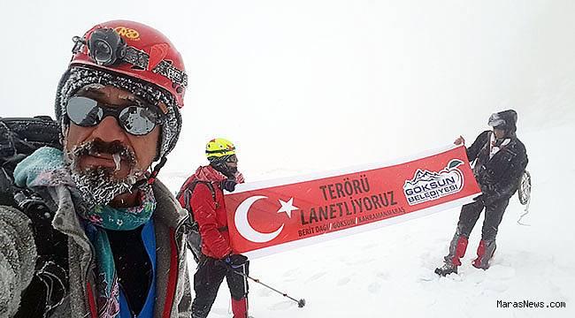 Dağcılar Teröre Tepki için Berit Dağı'na tırmandı
