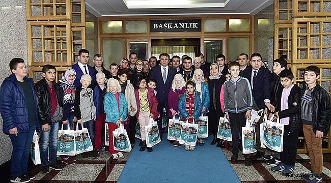 Görme Engellilerden Başkan Erkoç'a ziyaret