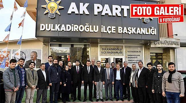 Başkan Erkoç'tan Dulkadiroğlu'na hayırlı olsun ziyareti