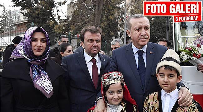 Cumhurbaşkanı Erdoğan'dan Büyükşehir'e ziyaret