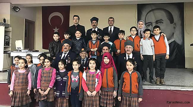 Gaziler, öğrencilere vatan sevgisini anlattı