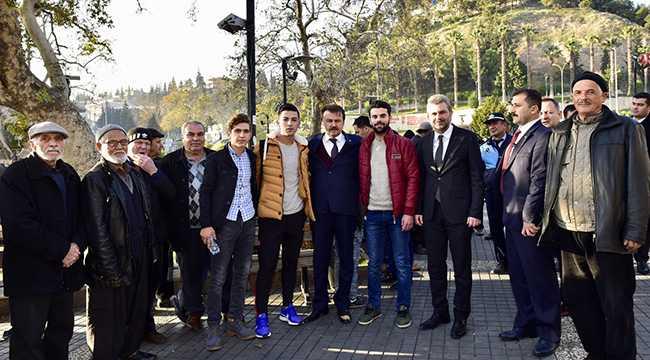 Başkan Erkoç'tan esnaf ve vatandaş ziyareti