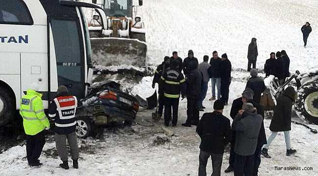 Afşin'de feci kaza: 1 ölü 2 Yaralı