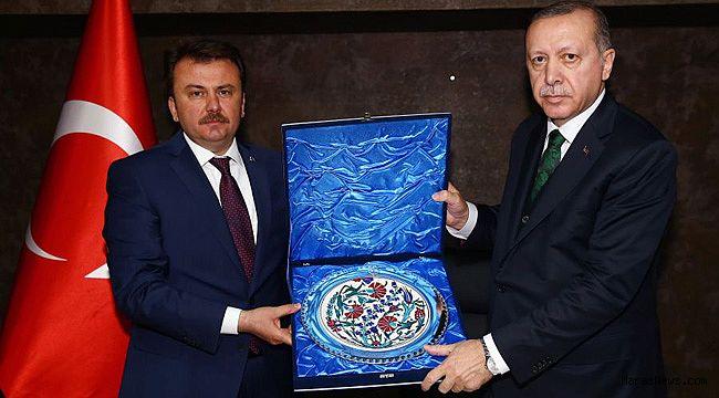 Cumhurbaşkanı Erdoğan, Erkoç'u kabul etti