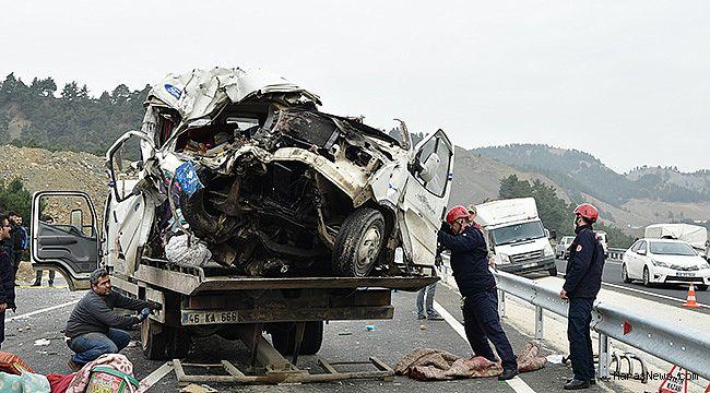 Kahramanmaraş'ta feci kaza: 9 ölü 7 yaralı