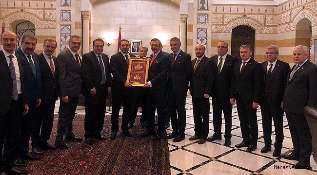 Zabun, Türk-Arap Ticaret Odası Yönetim Kurulu toplantısı için Lübnan'a gitti