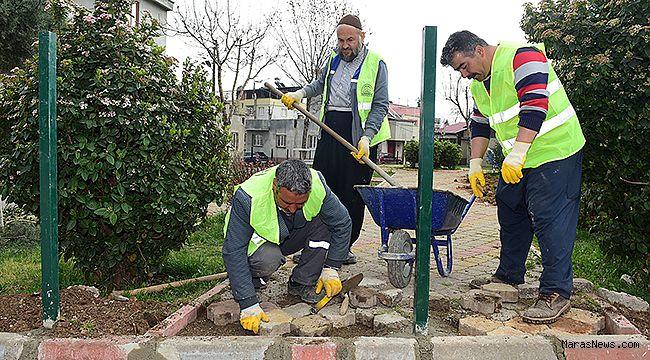 Dulkadiroğlu'nun park ve bahçeleri bahara hazırlanıyor