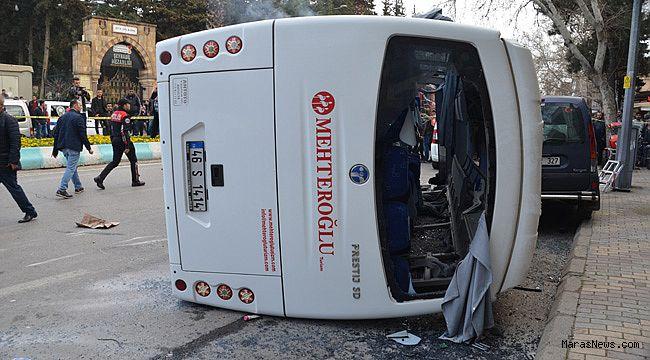 Öğrencileri taşıyan otobüs devrildi: 22 yaralı