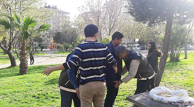 Okul çevresinde araması bulunan 9 kişi yakalandı