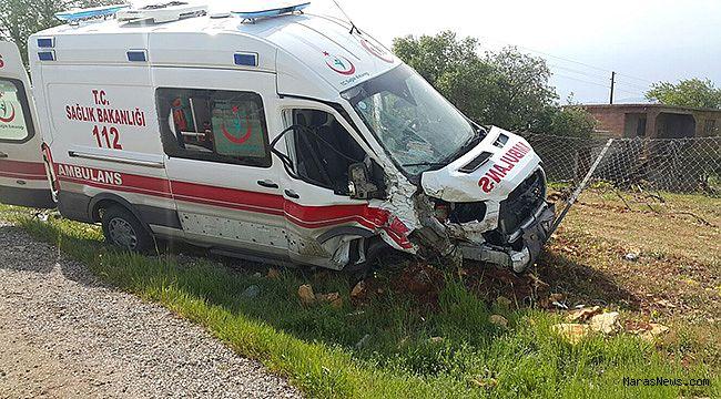 Ambulans ile Minibüs çarpıştı… 6 yaralı!