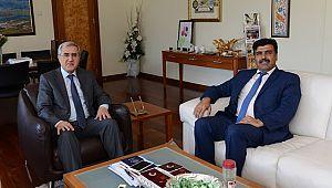 Dulkadiroğlu İlçe Milli Eğitim Müdürü Kurt, Rektör Can'ı ziyaret etti