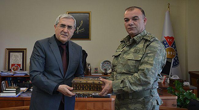 Garnizon Komutanı Albay Adnan Köşker, Rektör Can'ı ziyaret etti