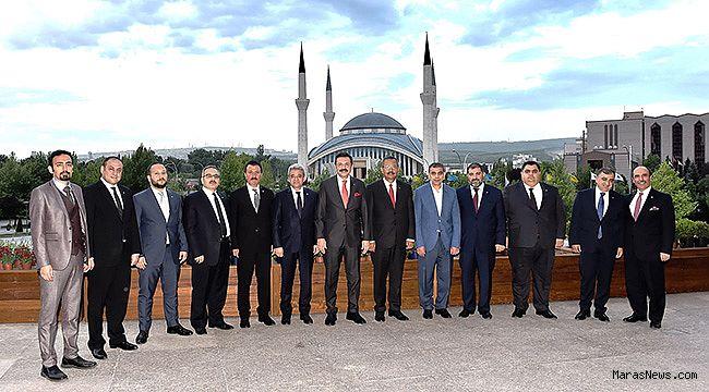 KMTSO Yönetimi TOBB Başkanı Hisarcıklıoğlu'nu ziyaret etti