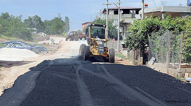 Pazarcık Belediyesinden Sıcak Asfalt Çalışması