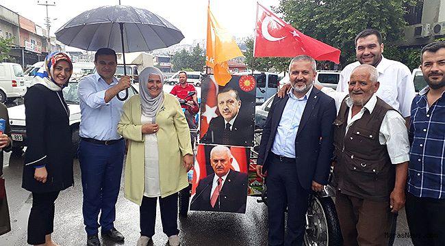 Habibe Öçal, Köy garajını ziyaret etti