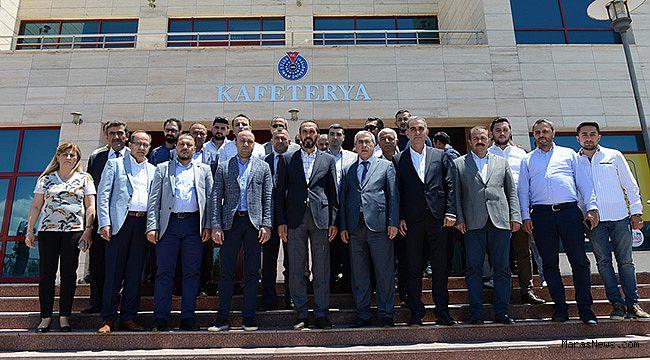 Özdemir, KSÜ'lü Yöneticilerle bir araya geldi