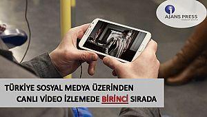 Türkiye sosyal medya üzerinden canlı video izlemede birinci sırada