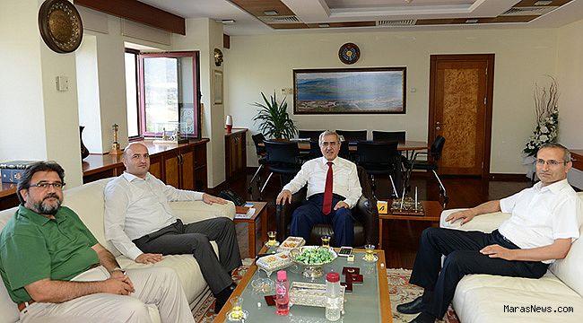 Andırın Kaymakamı Koç'tan KSÜ Rektörü Can'a ziyaret