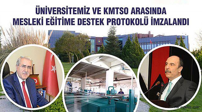 KSÜ ve KMTSO arasında Burs Protokolü