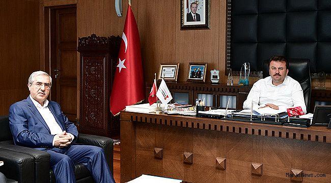 Rektör Can'dan, Başkan Erkoç'a Ziyaret