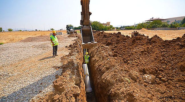KASKİ'den Türkoğlu'na ilave kanalizasyon hattı