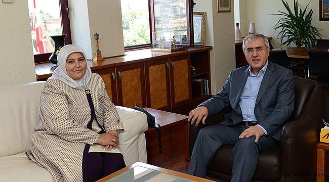 Rektör Prof. Dr. Niyazi Can, Milletvekili Öçal'ı ağırladı