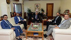 AK Partili vekillerden Rektör Can'a ziyaret