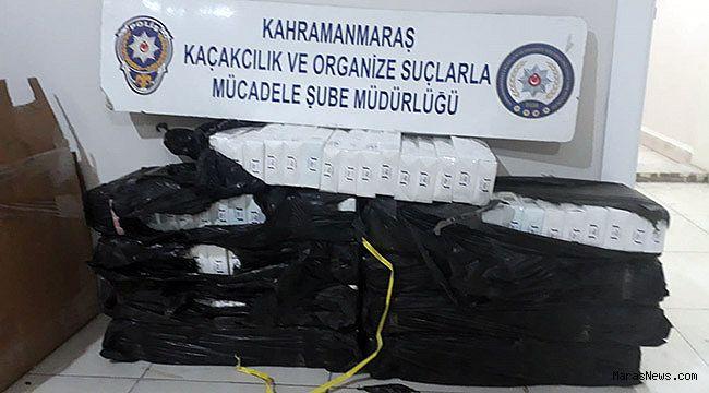 Polisten kaçan bin 590 paket kaçak sigara çıktı