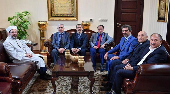 Rektör Can'dan Diyanet İşleri Başkanı Erbaş'a Ziyaret