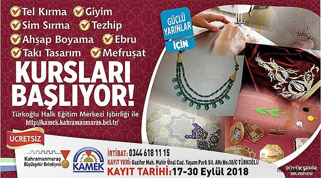 Türkoğlu KAMEK Kurslarına Kayıtlar Başladı