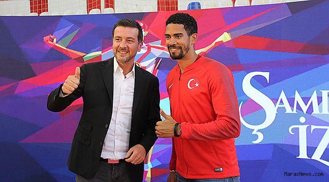 Ersin Düzen ve Milli Atlet Yasmani Copello Escobar Kahramanmaraş'ta!