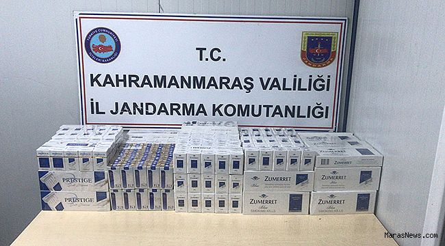 Jandarma, bin 310 paket kaçak sigara ele geçirdi