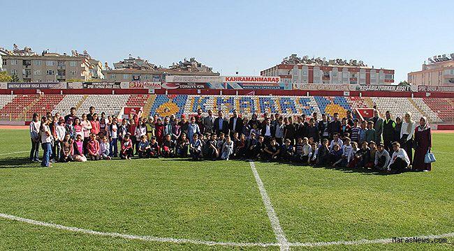100 Ortaokul öğrencisi 12 Şubat stadını ziyaret ettiler