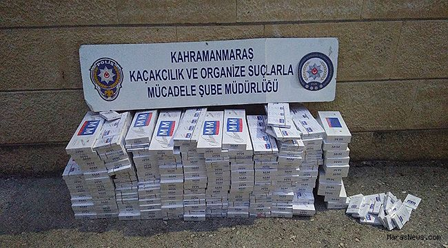 Aracın zulasında 3 paket kaçak sigara çıktı