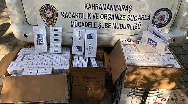 Araçtan bin 500 paket kaçak sigara çıktı