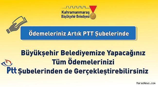 Büyükşehir'e ödemeler PTT ile de yapılıyor