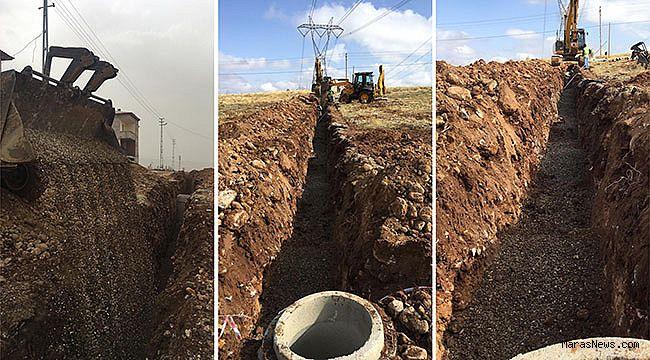 Çardak'ın kanalizasyon hattı uzatıldı