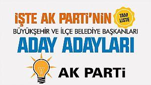 İşte AK Parti'nin Kahramanmaraş Büyükşehir ve İlçe Belediyeleri Başkan aday adayları