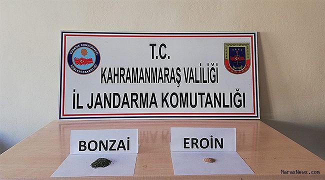 Pazarcık'ta Bonzai ve Eroin operasyonu!