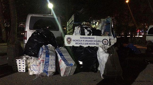 Polisten 14 bin 680 paket kaçak sigara operasyonu!
