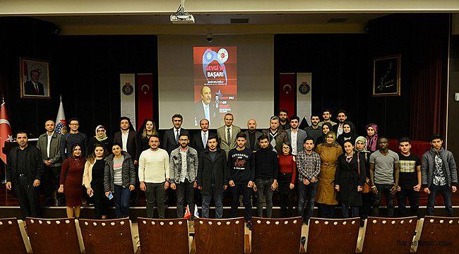 """Şahin Balcıoğlu, KSÜ'de """"Sevgi ve Başarı"""" Konulu Söyleşisi"""
