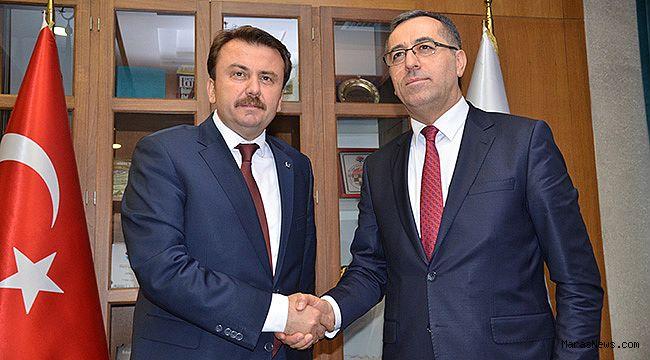 Hayrettin Güngör'den, Başkan Fatih Mehmet Erkoç'a ziyaret