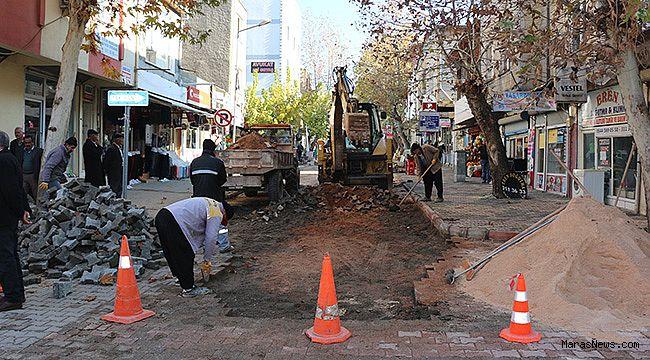 Pazarcık Belediyesi tarafından yol onarım çalışmaları devam ediyor