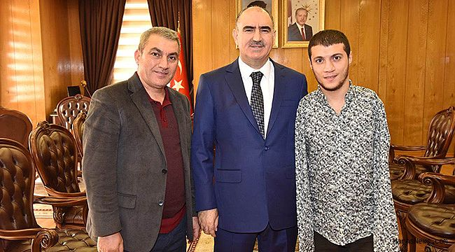 Şampiyondan Vali Özkan'a Ziyaret