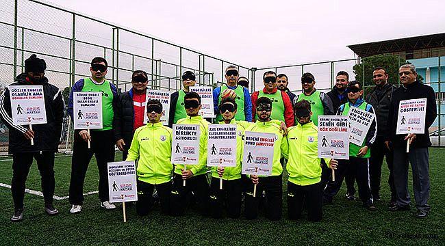 Büyükşehir'den Görme Engellilere Futbol Maçı