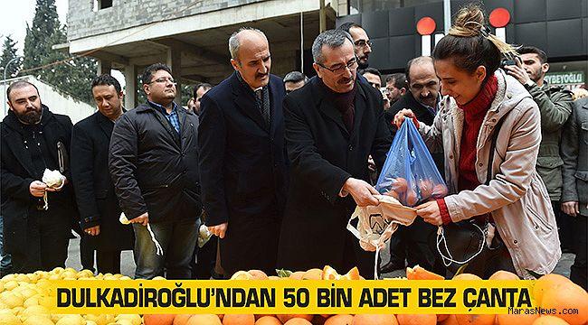 Dulkadiroğlu'ndan 50 bin adet bez çanta