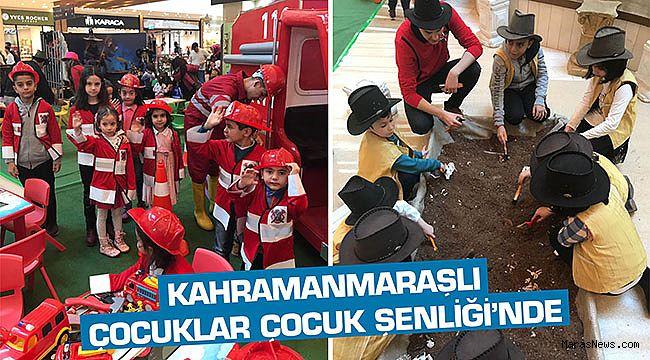 Kahramanmaraşlı çocuklar Çocuk Şenliği'nde…