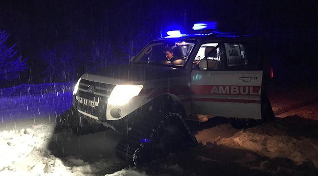 Kar paletli ambulanslar, kar kış dinlemiyor