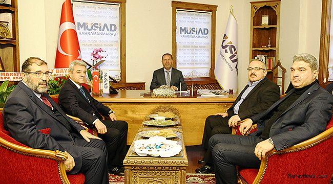 KMTSO Yönetimi MÜSİAD ile bir araya geldi