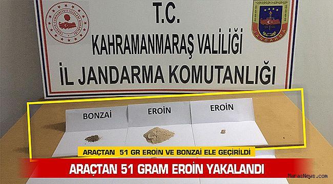 Araçtan 51 gram Eroin yakalandı